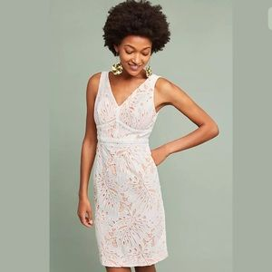 Anthropologie Maeve White Gardenia Lace Dress